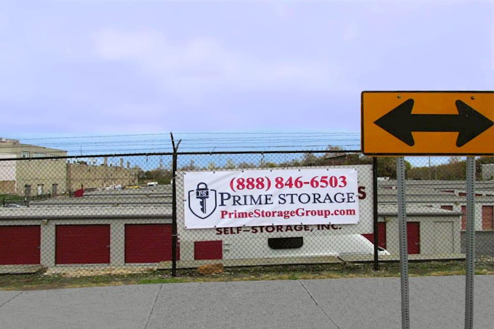 Sign at Prime Storage in Philadelphia, Pennsylvania