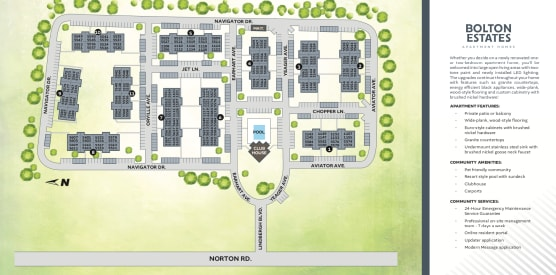Site map of Bolton Estates Apartments in Columbus, Ohio
