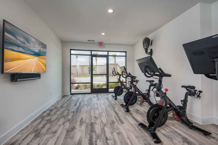 Enjoy apartments with a modern fitness center at The Jaxon