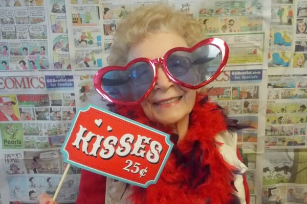 Resident posing for a picture at Edgewood Point Assisted Living in Beaverton, Oregon