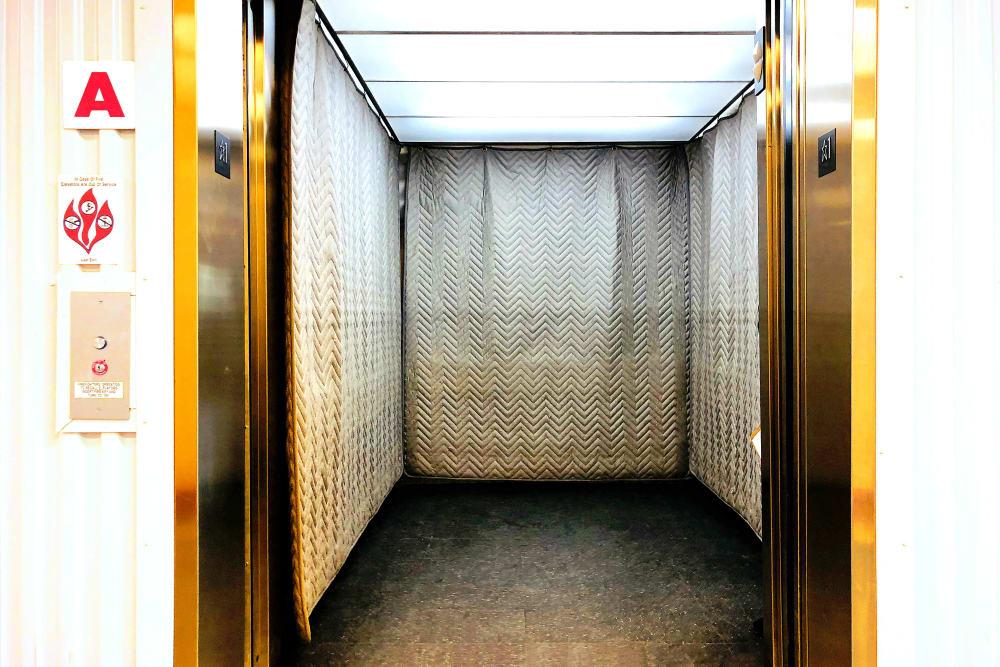 Elevator at Climatrol Self Storage in Williamsburg, Virginia