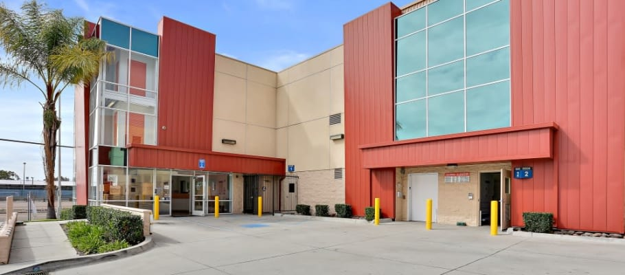 The driveway entrance at A-1 Self Storage in San Diego, California