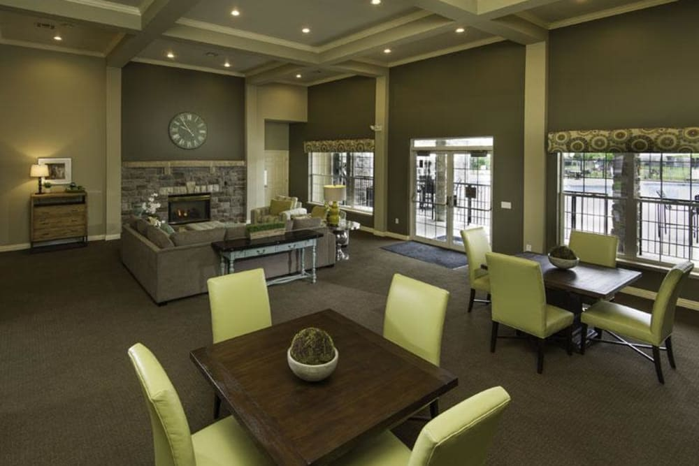 Modern clubhouse at Fairstone at Riverview Apartments in Taylorsville, Utah
