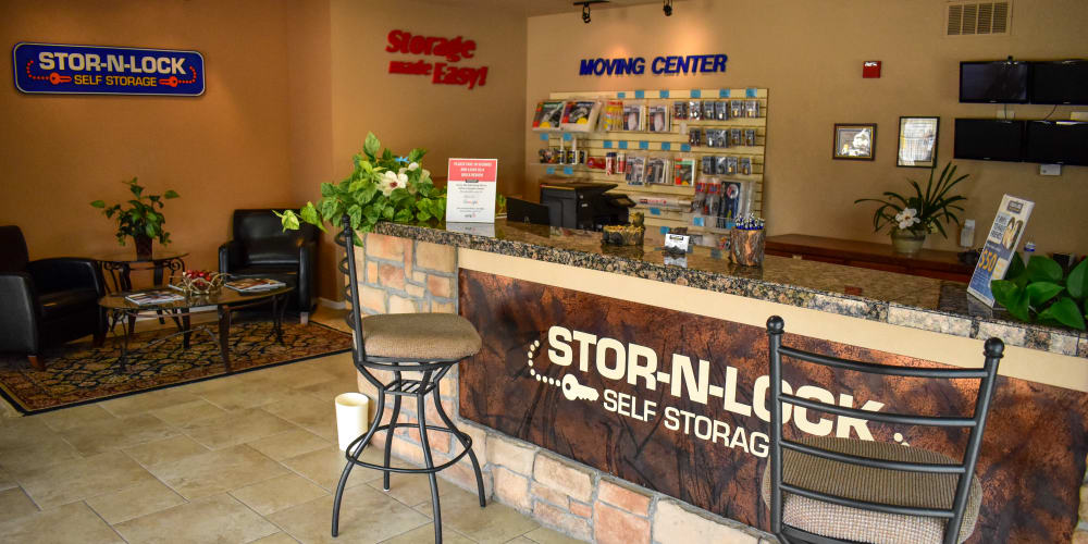 Inside the office at STOR-N-LOCK Self Storage in Littleton, Colorado