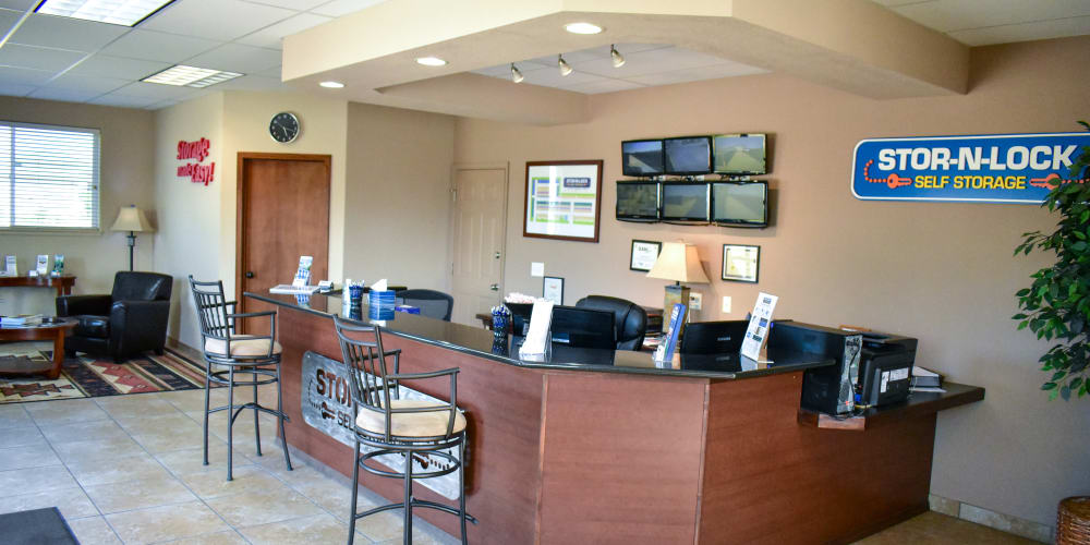 Inside the office at STOR-N-LOCK Self Storage in Fort Collins, Colorado