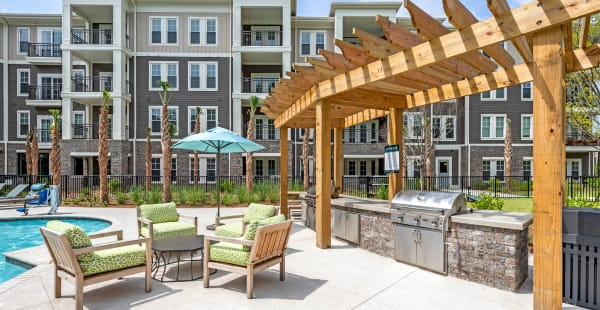 Outdoor BBQ area at The Heyward in Charleston, South Carolina