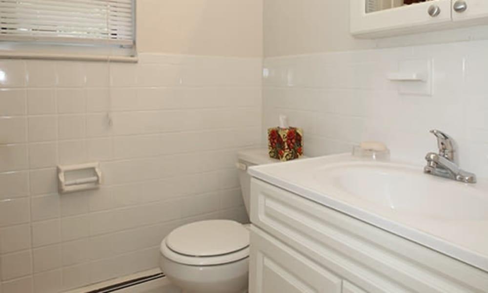 Bathroom at Mt. Arlington Gardens Apartment Homes in Mt. Arlington, NJ