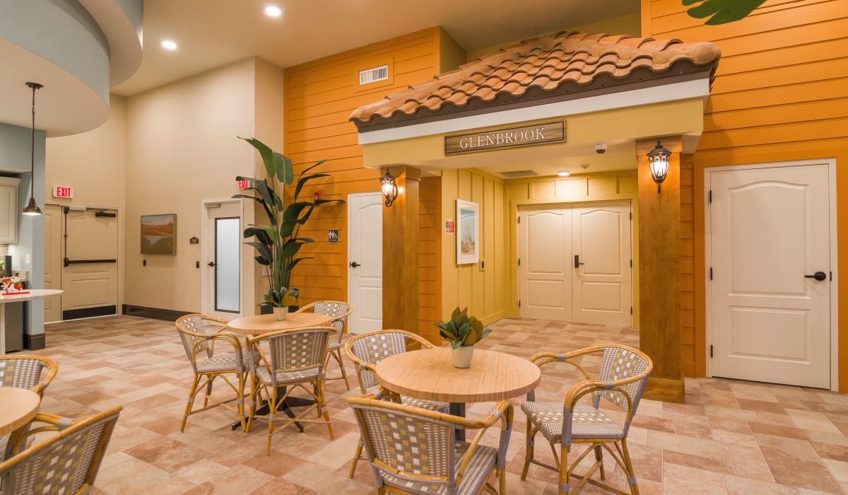 Spacious common area with plenty of seating at CERTUS Premier Memory Care Living in Orlando, Florida.