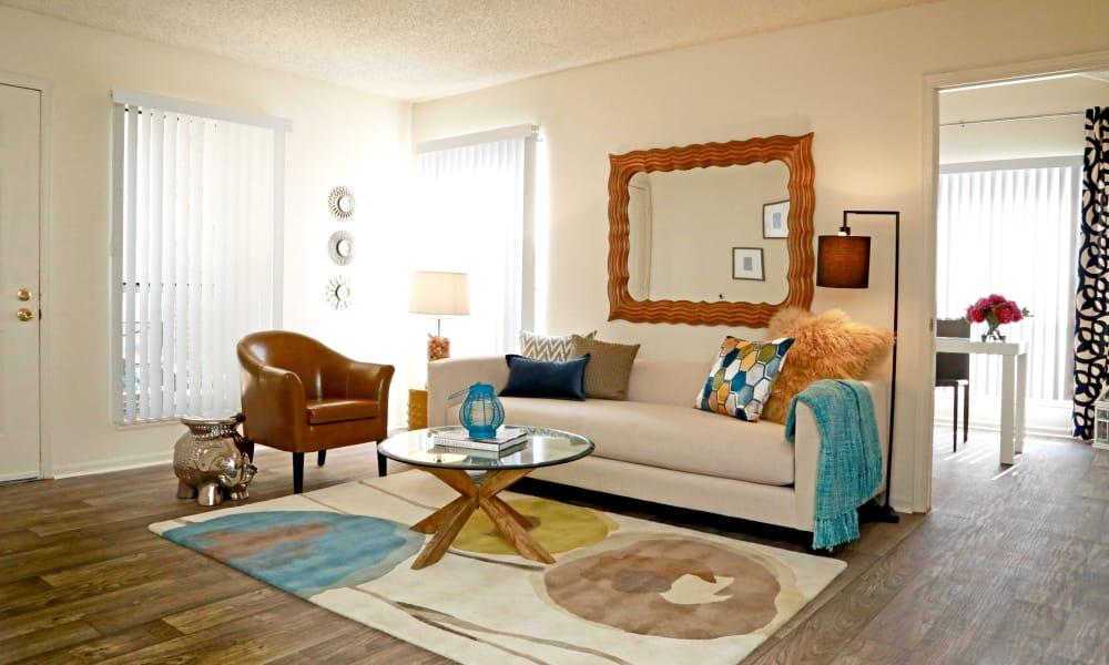 Spacious living room at Keystone Apartments in Northglenn, Colorado