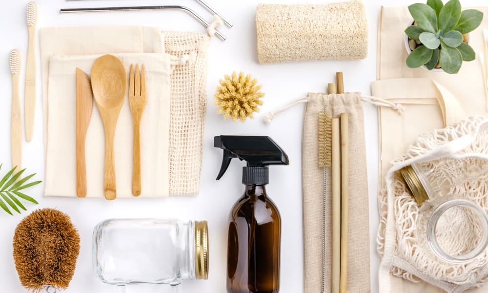 Eco friendly grooming tools at Residences at 8 East Huron in Chicago, Illinois