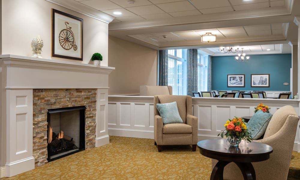 Community living room at Randall Residence of Centerville in Centerville, Ohio