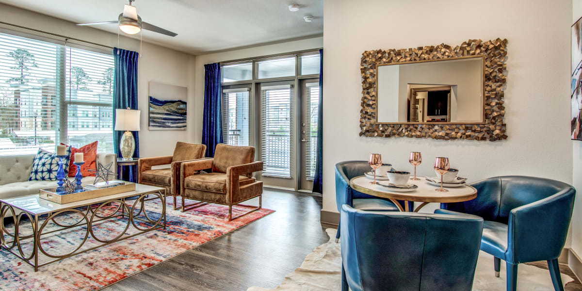 Wood-style flooring at Enclave at Woodland Lakes in Conroe, Texas