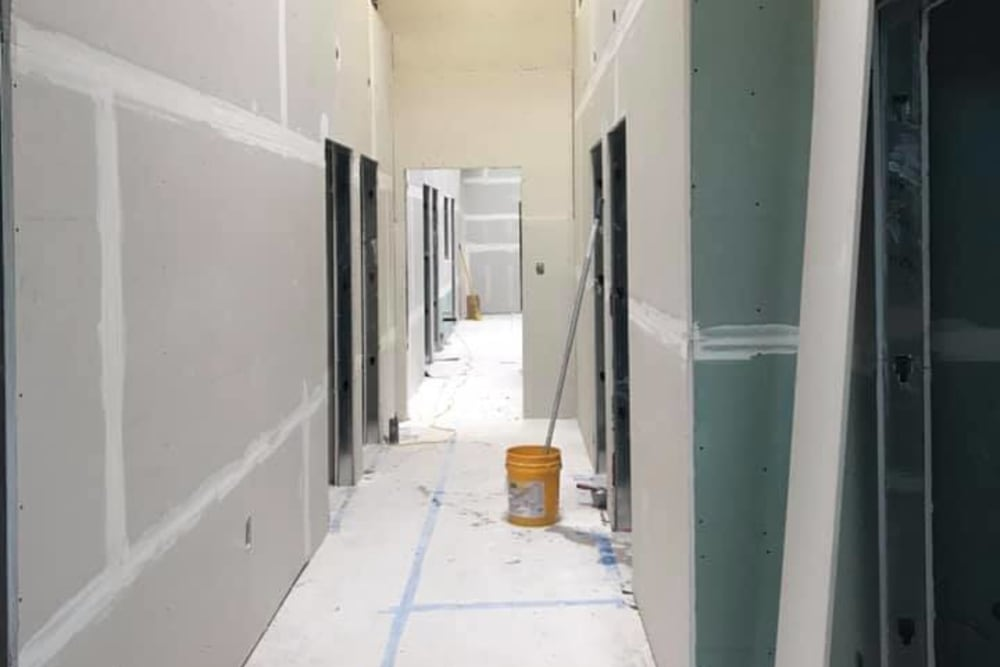 Construction in progress on Pet Samaritan's new clinic