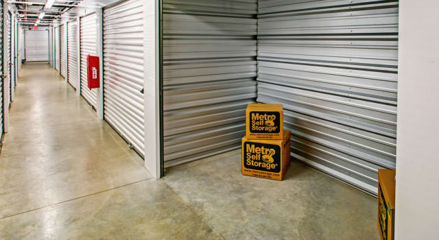 Climate controlled units at Metro Self Storage in Newtown Square, PA
