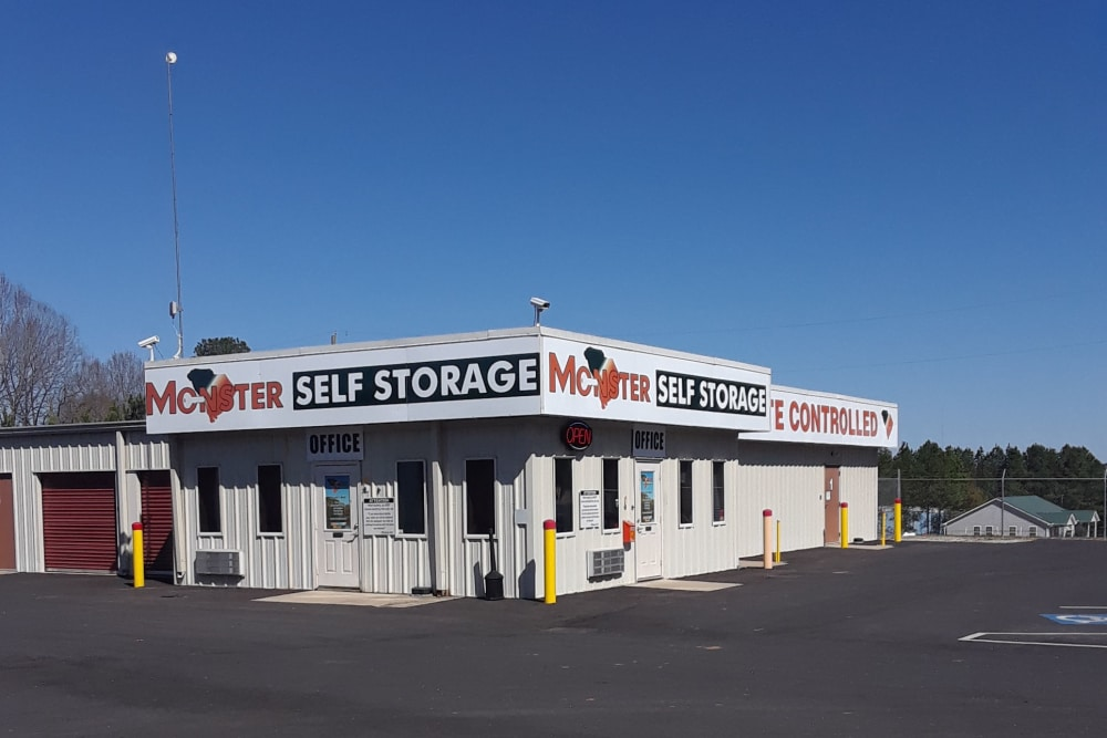 Monster Self Storage exterior in Westminster, South Carolina