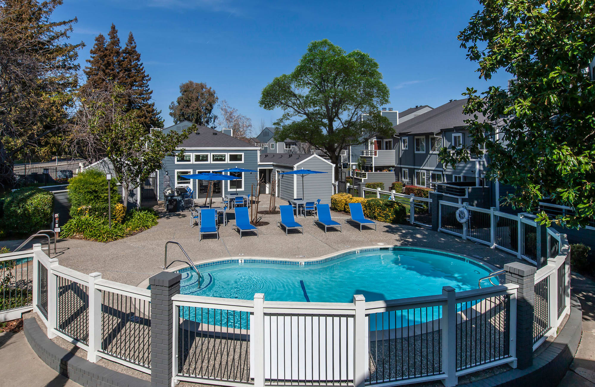 Pool view with exterior building shot in Fairfield, CA