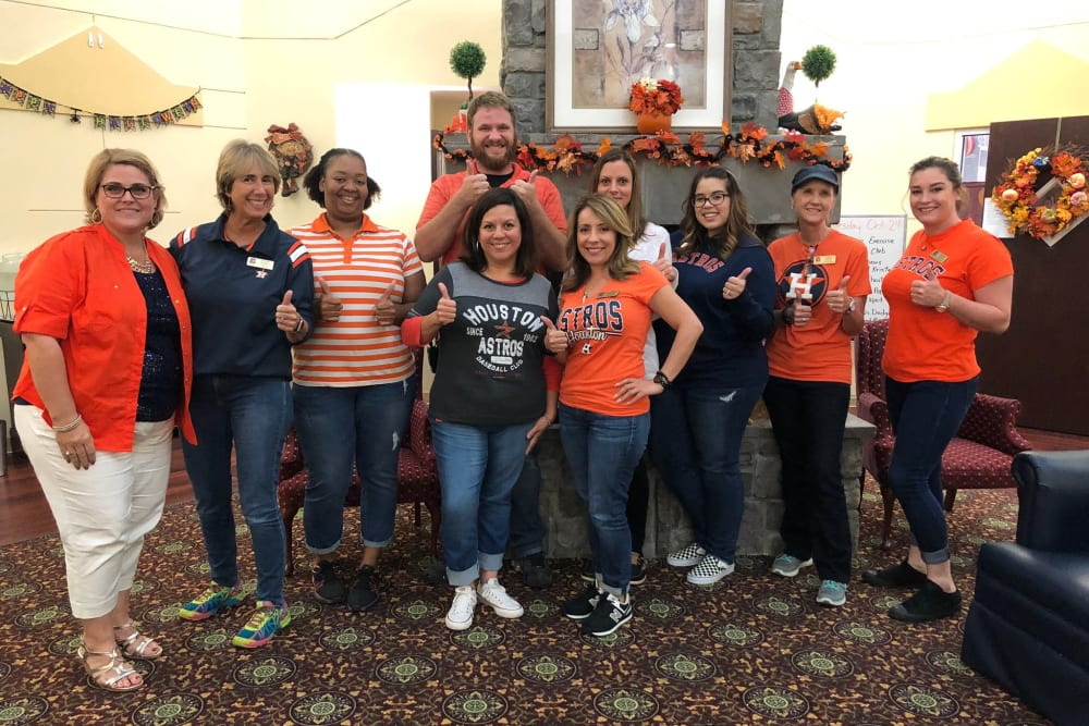 Astro fans at Parsons House Cypress in Cypress, Texas