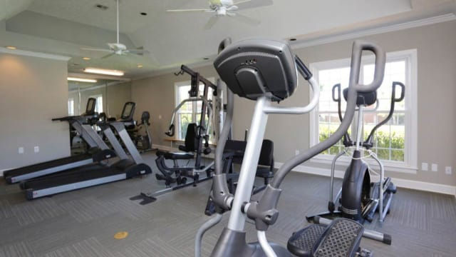 Fitness center at The Tapestry on Vaughn in Montgomery, Alabama