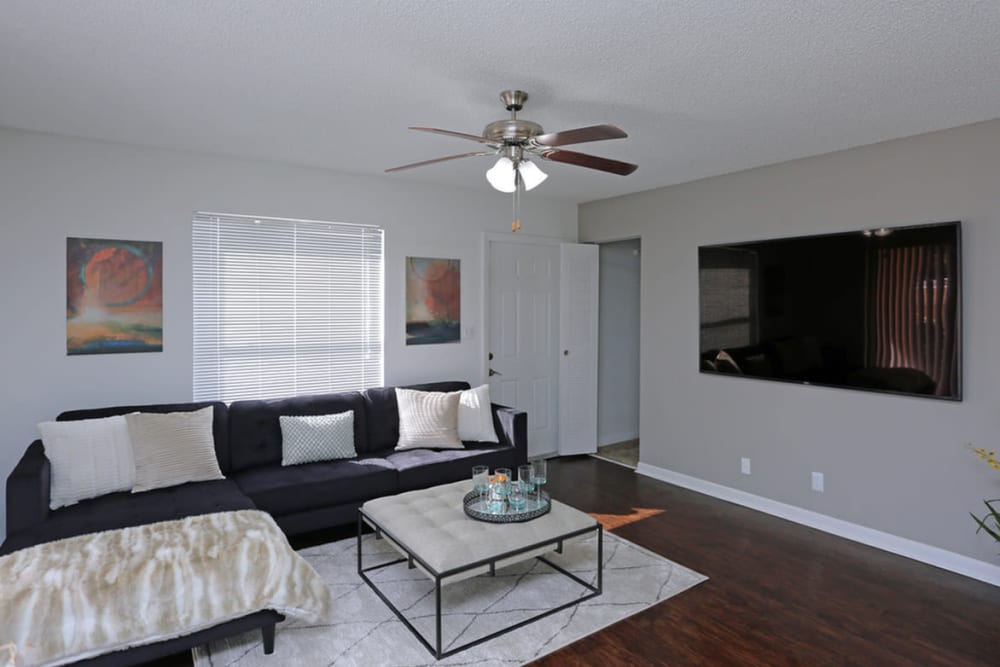 Living room at Savannah Place Apartments & Townhomes in Boca Raton, Florida