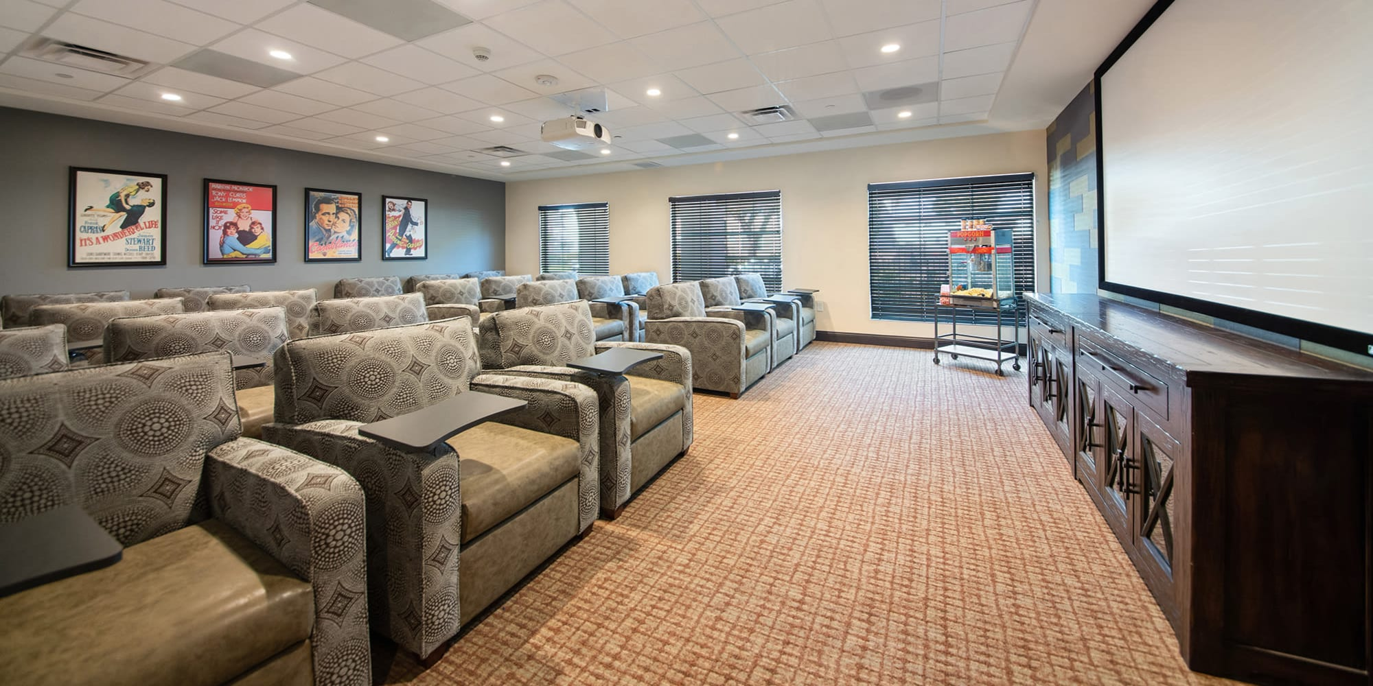 Movie Theater and common area at Regency Palms Oxnard