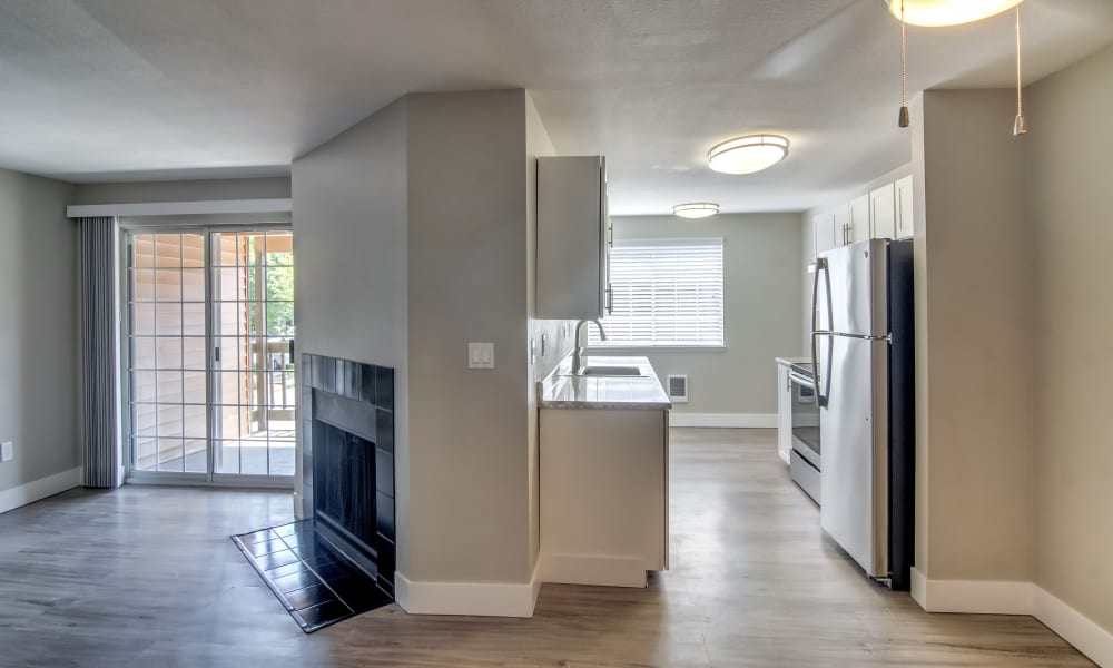 Naturally well-lit apartment interior at Vista at 23 Apartments in Gresham, OR