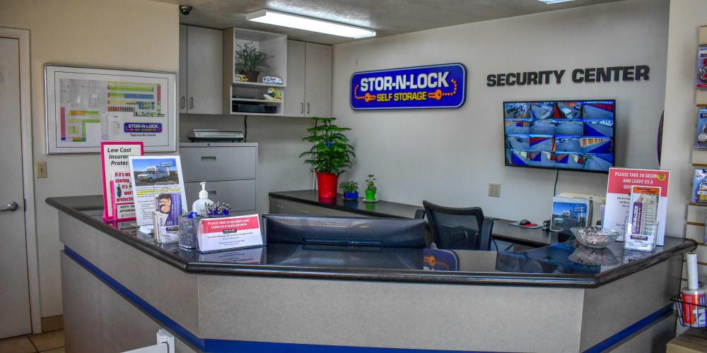 Inside the office at STOR-N-LOCK Self Storage in Taylorsville, Utah