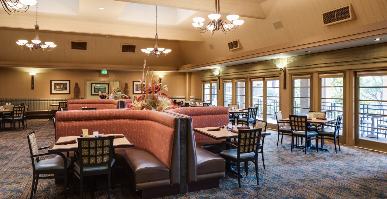 Comfy seats in our dining room at The Reserve at Thousand Oaks in Thousand Oaks, California