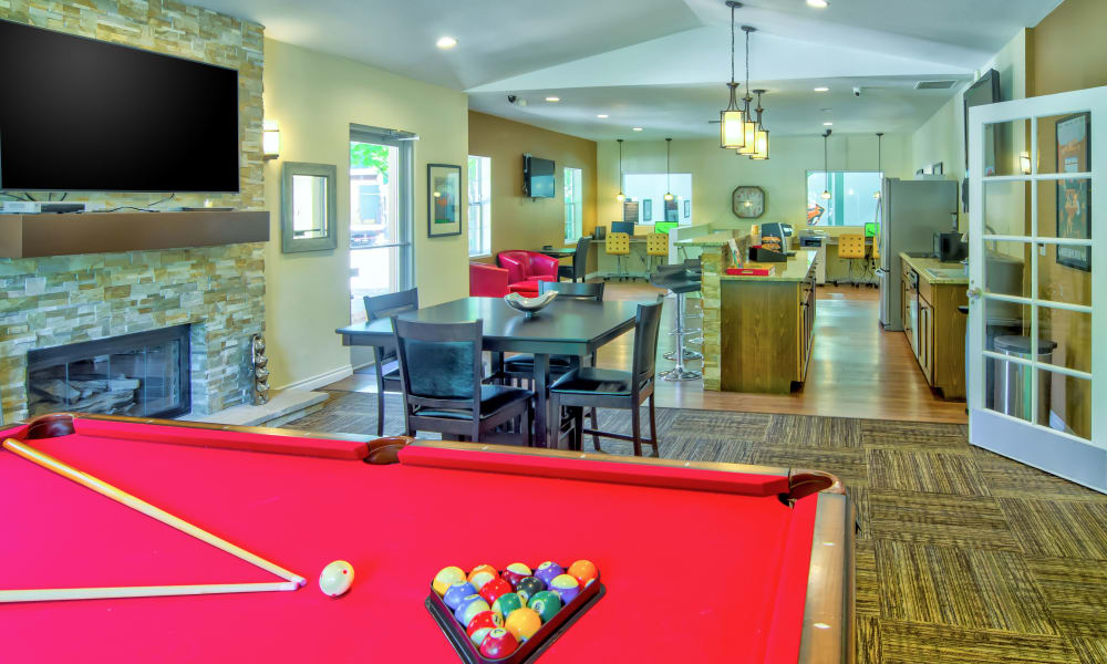 Pool table at Vista at 23 Apartments in Gresham, OR