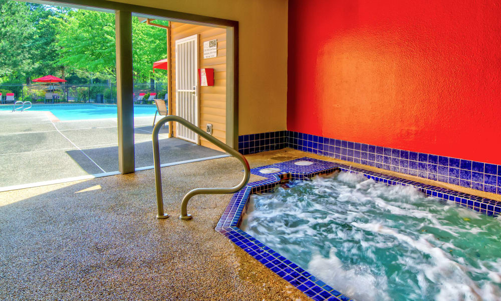 Indoors Hot Tub at Vista at 23 Apartments in Gresham, OR