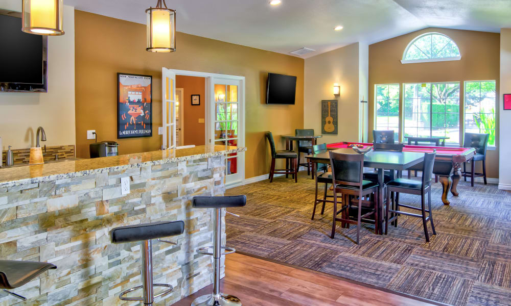 Vista at 23 Apartments offers a beautiful clubhouse kitchen in Gresham, OR
