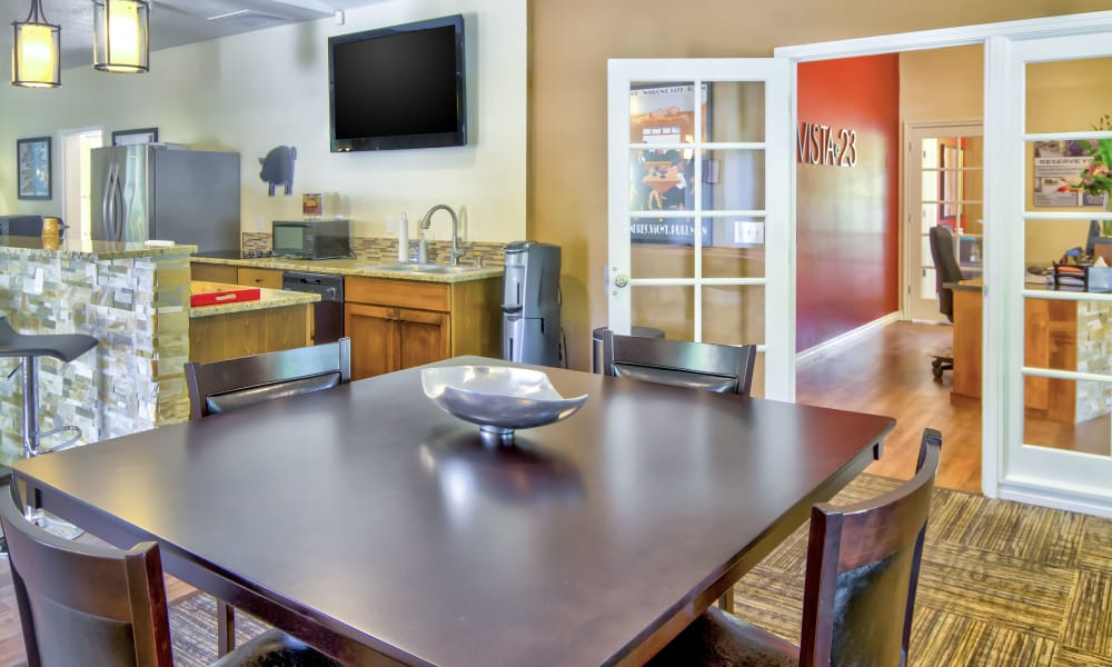 Beautiful clubhouse at Vista at 23 Apartments in Gresham, OR