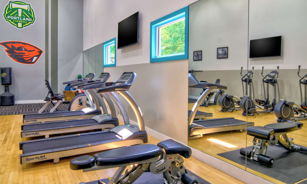 Enjoy apartments with a fitness center at Vista at 23 Apartments
