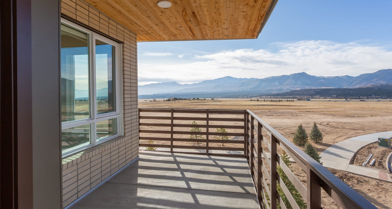 Upper deck with an amazing view at FalconView in Colorado Springs, Colorado