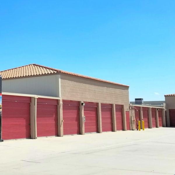 Outdoor storage units at StorQuest Self Storage in La Quinta, California