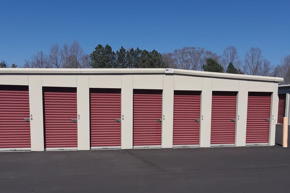 Storage units at Monster Self Storage in Westminster, South Carolina