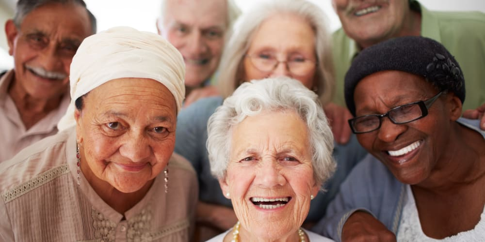 Residents smiling at The Springs Living in McMinnville, Oregon
