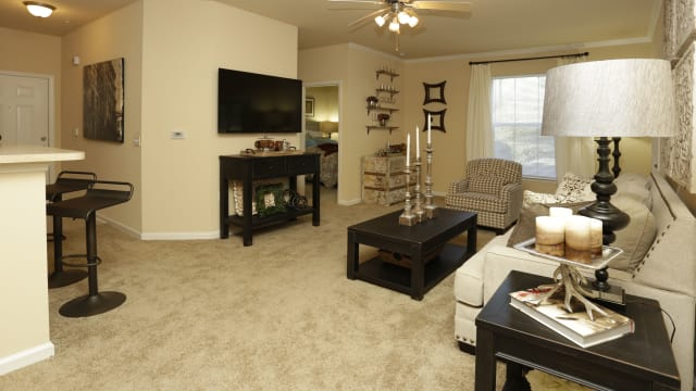 Living room area at Integra Woods in Palm Coast