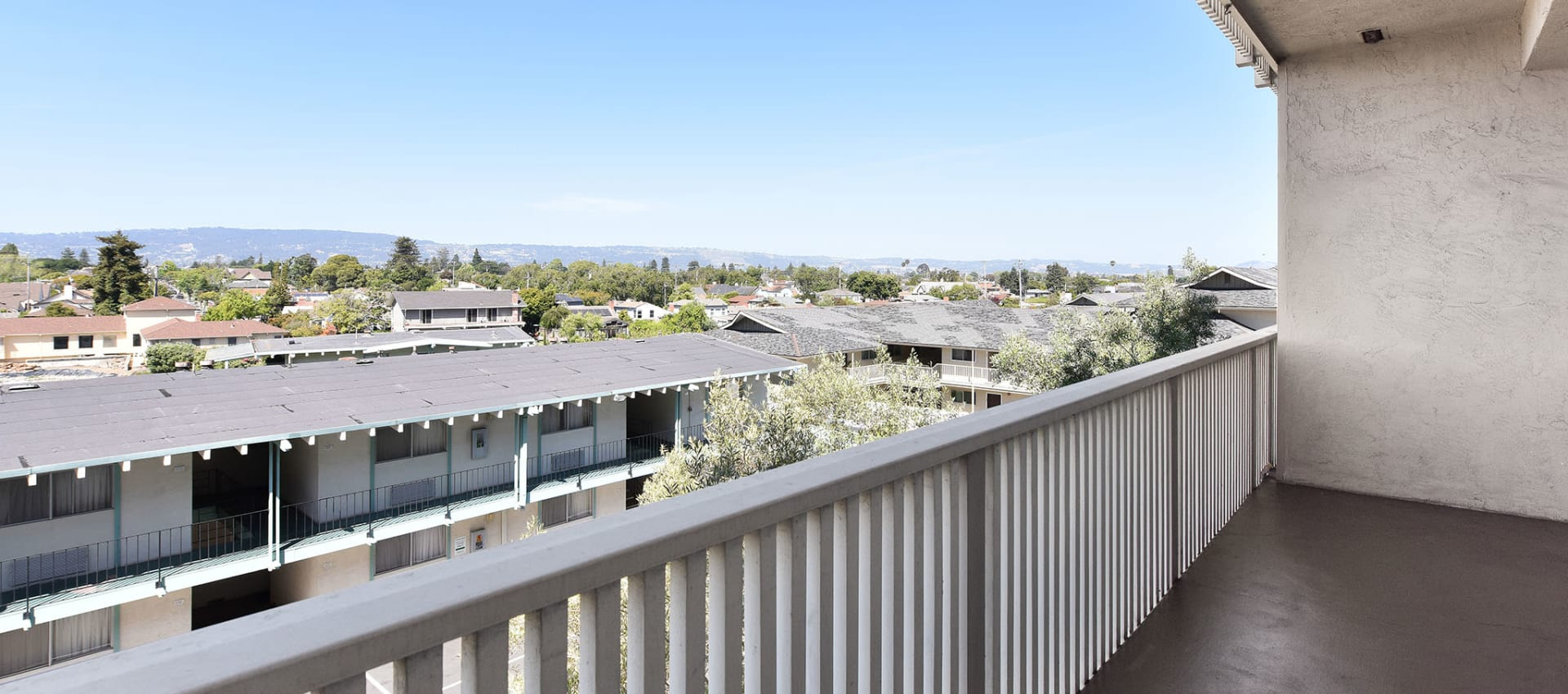 Patio with great view at apartments in Alameda, CA