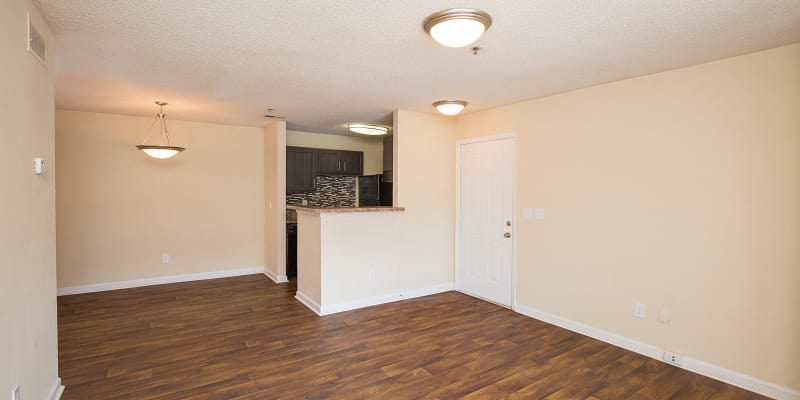 Wood-Style Flooring in model apartment at Gregory Lane in Acworth, Georgia