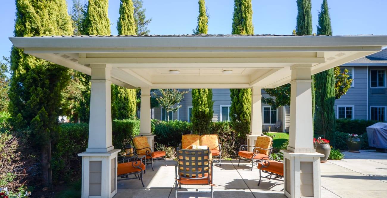 Exterior patio at The Commons at Union Ranch in Manteca, California