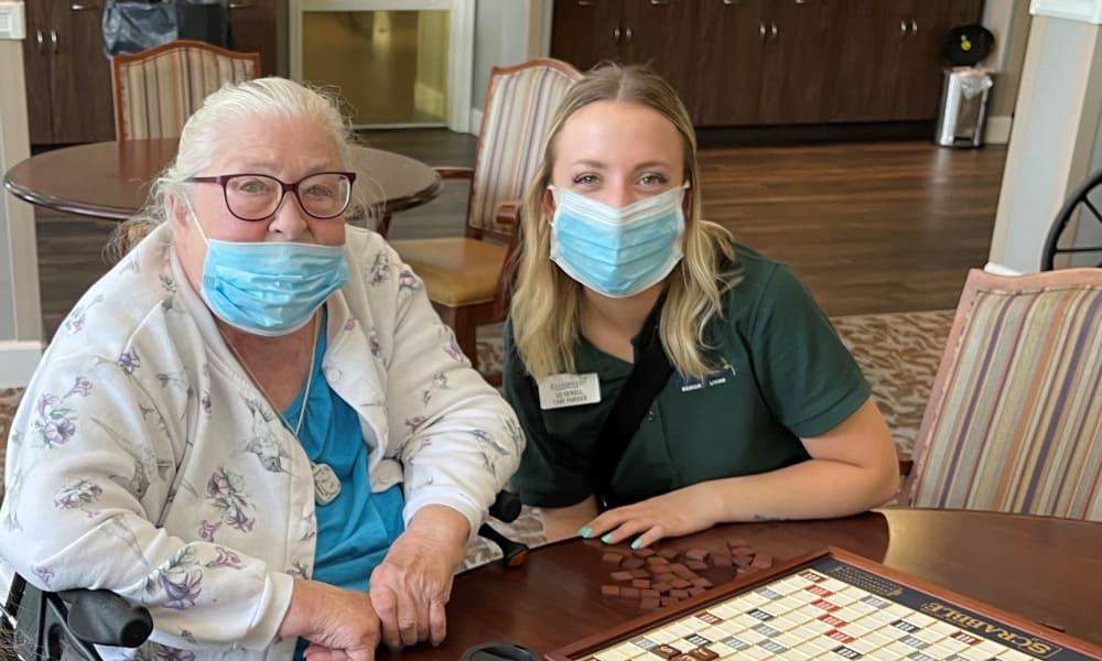 Resident and Employee at Evergreen Senior Living in Eugene, Oregon