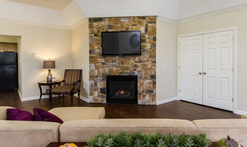 Our apartments & townhomes in Victor, NY showcase a beautiful living room