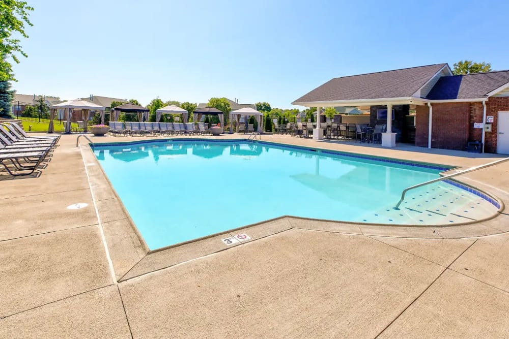 One of the two pools at Charleston Pines Apartment Homes in Florence, Kentucky