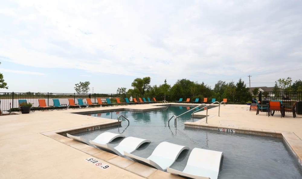 resort style pool at Springs at May Lakes in Oklahoma City, OK