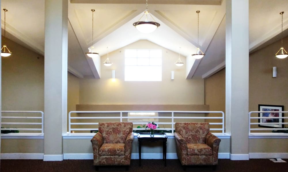 Activities room at Woodside Senior Living in Springfield, Oregon