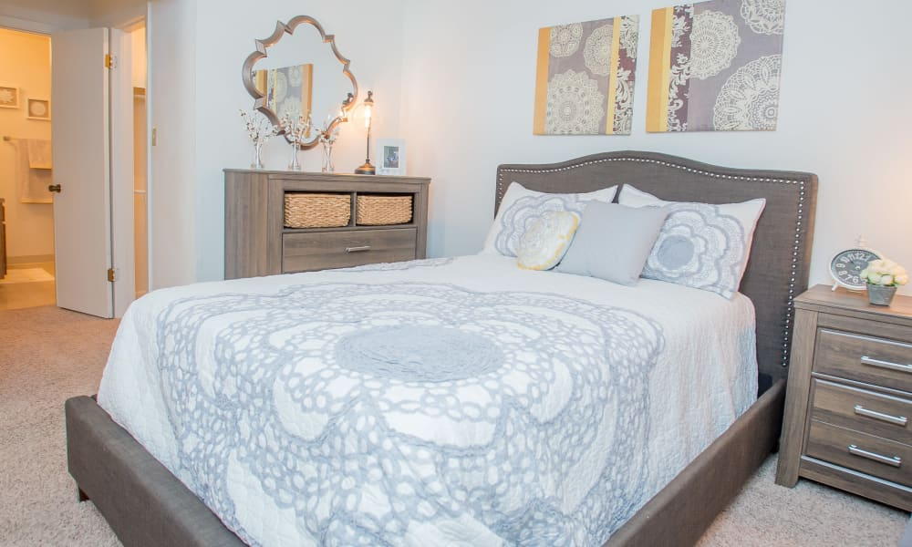 Bedroom at The Greens of Bedford in Tulsa, Oklahoma