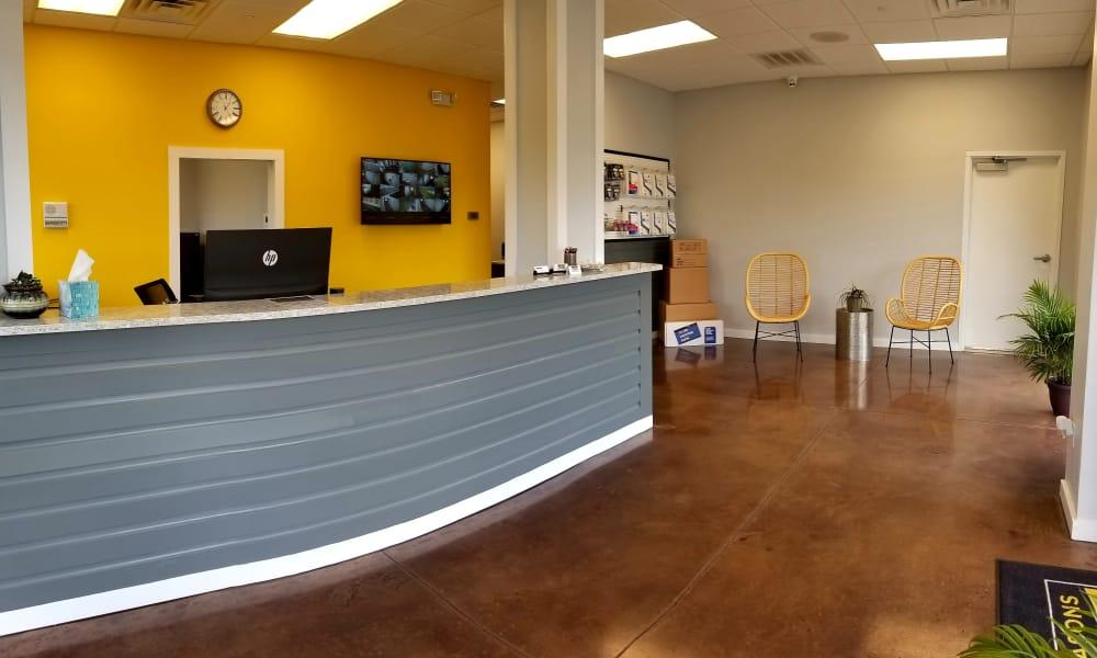 Leasing office at All Seasons Self Storage, Wilmington, North Carolina