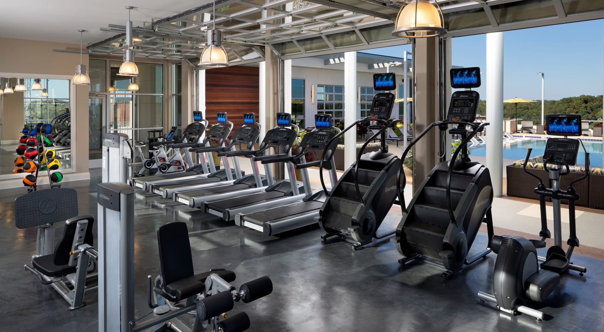 Luxury fitness center at The Encore, Atlanta, Georgia