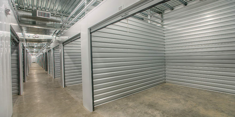 Indoor climate controlled units at StorQuest Self Storage in North Miami Beach, Florida