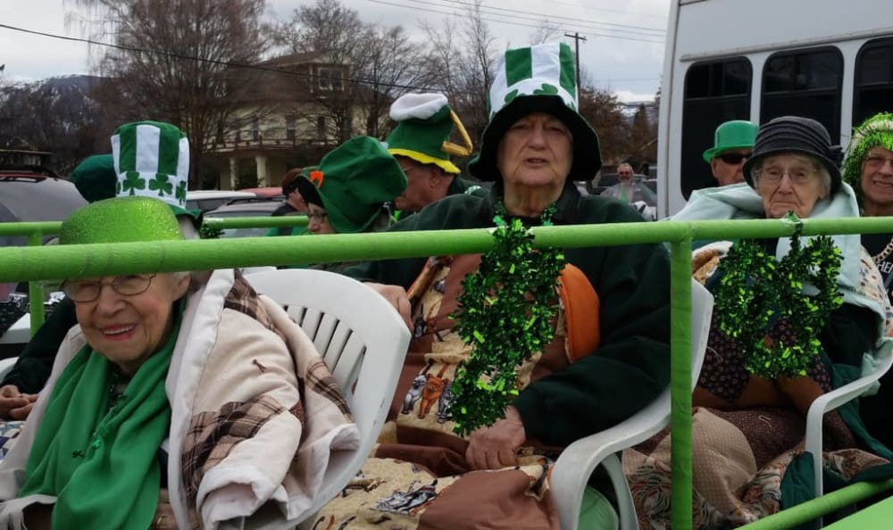Residents of Heritage Heights celebrate St. Patty's in